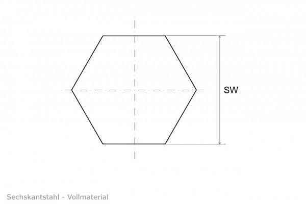 Sechskantstahl 1.4571 V4A 316Ti - blank